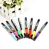 8 pcs Stylo Fluo LED Neon Marqueur Craie Chalk Liquide Tableau Crayon fenêtre Signet 8 couleur