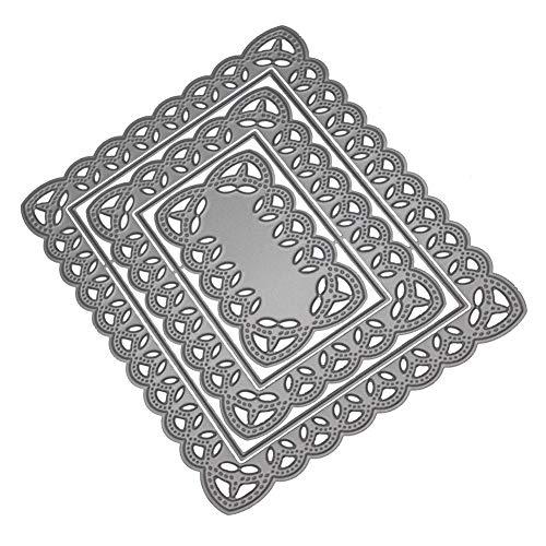 Xmiral fustelle per scrapbooking per carta cutting dies metallo fustella stencil #19032601u, accessori per big shot e altre macchina(c)