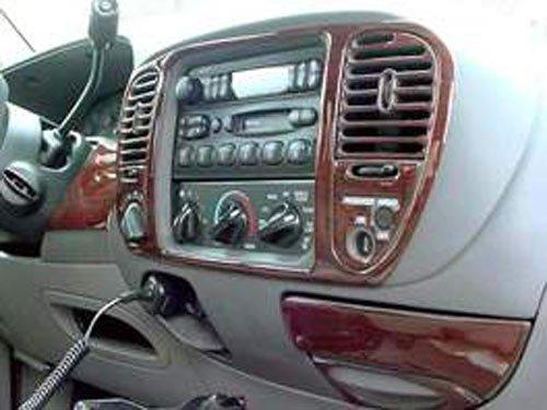 Ford F150 F150 F 150 Interior Burl Wood Dash Trim Kit Set 2001 2002 2003 Super-Crew Cab (Ford F 150 2003)