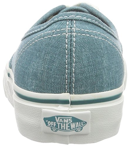 Vans U Authentic Washed, Baskets Basses Mixte Adulte Vert ((washed) Teal