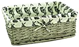 east2eden Driftwood Wash Wicker Shallow Storage Display Basket Box with Hare Liner in Choice of Sizes & Deals (Medium)