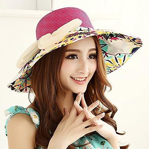 Ms. Summer Korean Visor The collapsible Hats Beach Cap Maximum along the Sunscreen Cap Straw hat