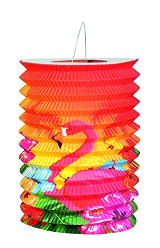 Boland Lot de 2 lanternes papier Hibiscus Hawaii 16 cm, modèles assortis Mod 52508
