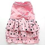Generic Dog Pet Puppy Female Princess Dress Clothes Costume Skirt Apparel Pink XL