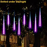 Meteor Lamp TAOtTAO Party LED Lights Meteor Shower Rain Snowfall Xmas Tree Garden Outdoor Purple