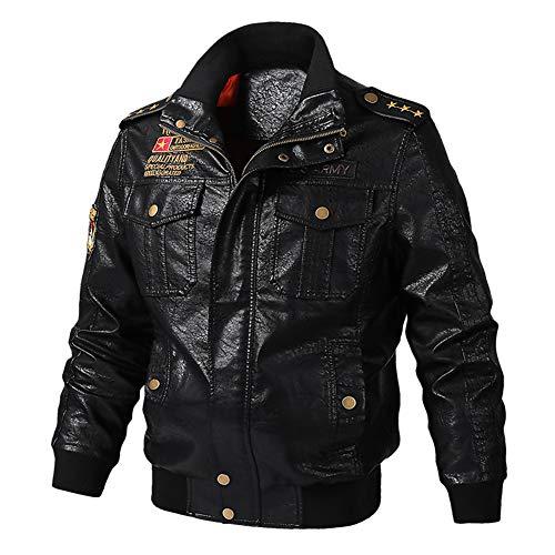 Sijux Herren Vintage Motorrad Cruiser Armor Belüftete Leder Touring Biker Jacke,Black,M Double Breasted Vintage Trenchcoat