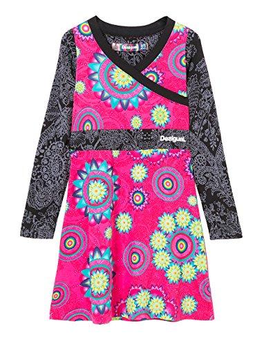 Desigual jefferson, robe fille, rose (fuchsia...