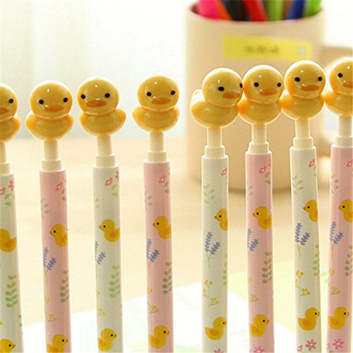 2-pcs-pack-cartoon-stationery-wholesale-small-yellow-duck-ball-pen-happy-cute-ball-pen