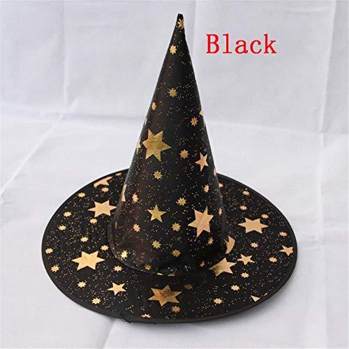 BWYFGRT Holloween Hexe Hüte Star Masquerade Wizard Hut Party Hüte Cosplay Kostüm Zubehör Halloween Party Kostüm (Holloween Kostüm Hexe)