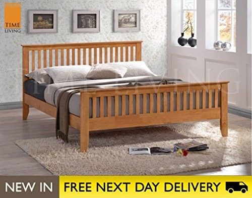 Time Living Exclusive Turin 5ft Honey Oak King Size Wooden Bed TUR5 Bed Frame Only