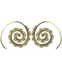 6d1b6c3e0489 Chic-Net Espirales pendientes situadas muesca Latón antiguo níquel oro libre  Tribal Jewelry Piercing