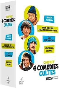 Coffret 4 comédies cultes - Marche à l'ombre + Viens chez moi j'habite chez une copine + Les spécialistes + Les frères Pétard