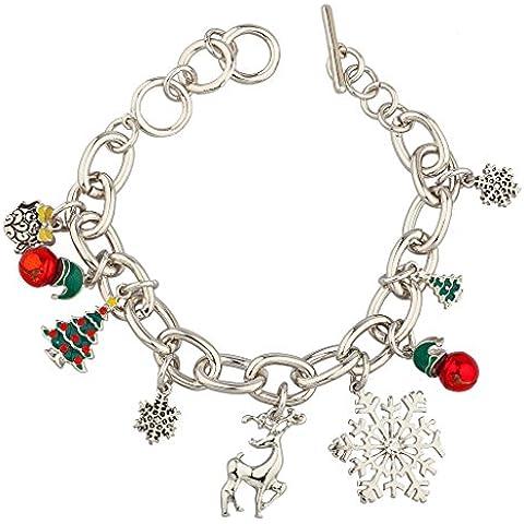 Lux accessori Renna Fiocco di neve Natale Jingle Bells albero natale in regalo braccialetto.