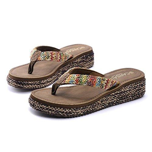 Cailin Sandals, 4.3cm summer word drag Chaussures de plage glissantes féminines Chaussons de plein air avec 4 couleurs ( Couleur : #1 , taille : EU39/UK6/CN39 ) #2