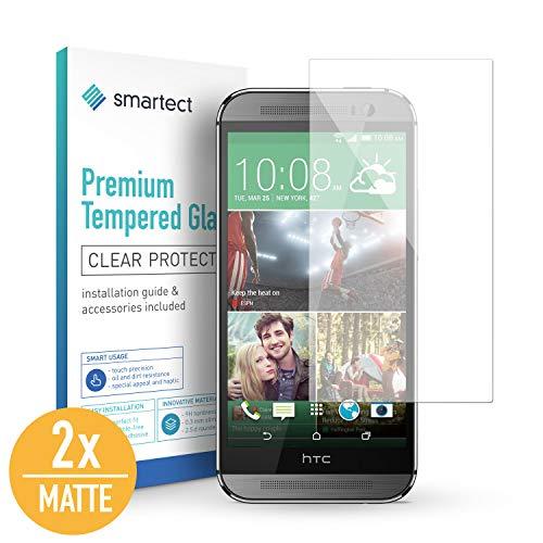 smartect Mattes Panzerglas für HTC One M8 / M8s [2X MATT] - Bildschirmschutz mit 9H Härte - Blasenfreie Schutzfolie - Anti Fingerprint Panzerglasfolie