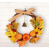 Ideal accesorios de decoración de fiesta Manualidades de la guirnalda de la puerta de las hojas de otoño para la decoración interior de la pared de la guirnalda de la Navidad de Thanksgiving Adornos (