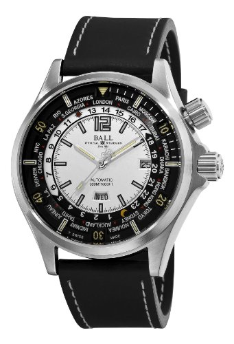Ball Men's DG2022A-PA-WH Engineer Master II White Worldtime Dial Watch