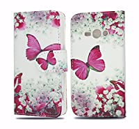 Samsung Galaxy J3 [ 2016 Release ] Case Cover NWNK13Ž Protective Leather-Effect Flip Folio Wallet Case Cover with Card Slots