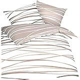 Kaeppel Mako Satin Bettwäsche Motion natur (1 x 80x80 + 1 x 135x200 cm)