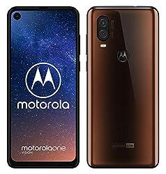 moto one vision Dual-Sim Smartphone (6, 3 Zoll Display, 48-MP-Sensor, 12-MP- + 5-MP-Dual-Kamera, 128 GB/4 GB, Android 9.0) Bronze + Schutzcover [Exklusiv bei Amazon]