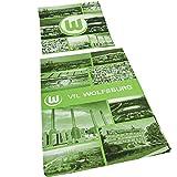 """VfL Wolfsburg Bettwäsche """"Fotocollage"""" Bezug 135 x 200cm Kissen 810 x 80 cm 100% Baumwolle mit Reisverschluss"""