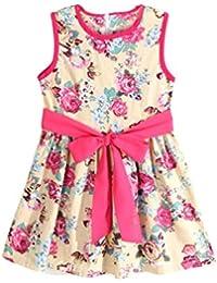 070e990149394 DAY8 Robe Fille Cérémonie Princesse Fleur Costume Vetements Bébé Fille  Naissance Pas Cher Robe Fille 1-7 Ans Été Enfant Bowknot…