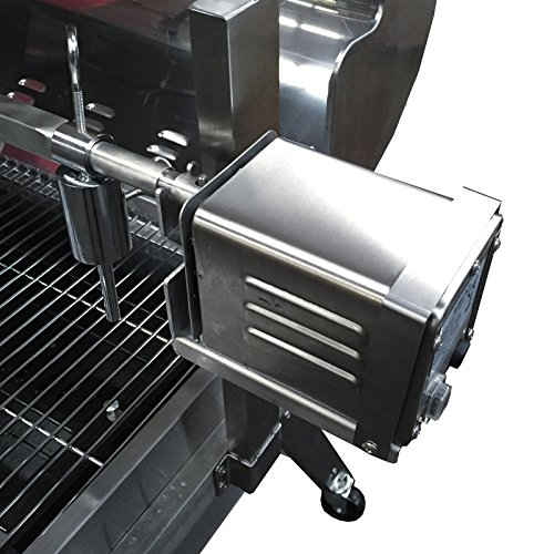 Tasty Trotter - Combi Gas & Charcoal Machine / Hog Roast Oven / Rotisserie / BBQ - Stainless Steel, Includes 15w Motor - Outdoor Catering