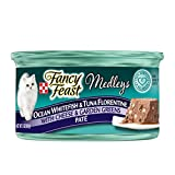 Purina Fancy Feast Wet Cat Food, Elegant Medleys, Whitefish & Tuna Florentine Pate with Cheese & Garden Greens, 3-Ounce Can by Purina Fancy Feast