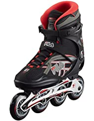 Fila Hombre Inline Skate Argon 84, Negro/Rojo, 39, 010616210