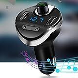Dandeliondeme Freisprecheinrichtung Bluetooth MP3 Player Dual USB Port Zigarettenanzünder Auto Kfz-Ladegerät - Schwarz