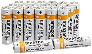 AmazonBasics Alkalibatterien, AA, 20 Stck