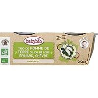 Babybio - Trio de pomme de terre épinard, chèvre dès 8 mois - Les 2 pots de 200 g - Prix Unitaire - Livraison...