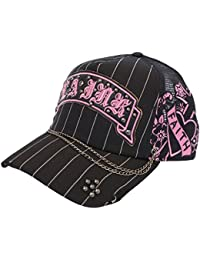 Black Trucker Pink Logo Faith