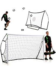 QUICKPLAY Kickster Combo 2,4 x 1,5m Fußballtor & Rückprallwand
