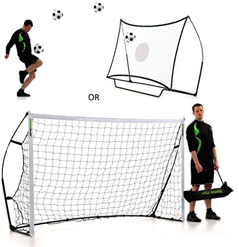 QUICKPLAY Kickster Combo 2,4 x 1,5m Fußballtor & Rebounder thumbnail