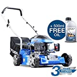 Hyundai Lawnmower Petrol Push Lawn Mower 40 cm 16' Lightweight 3 Year Warranty HYM400P4