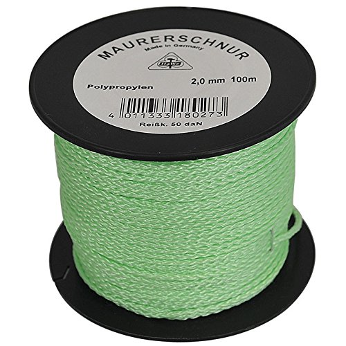 HaWe Maurerschnur Polypropylen, 100 m x 2 mm, leucht grün, 18.024