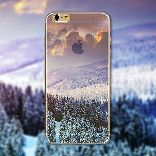 Coque iPhone 5 5s Housse étui-Case Transparent Liquid Crystal en TPU Silicone Clair,Protection Ultra Mince Premium,Coque Prime pour iPhone 5 5s-Paysage-style 2 21