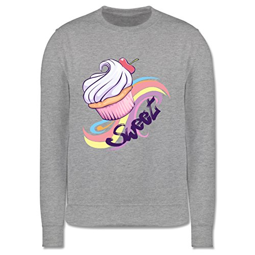 up-to-date-kind-sweet-cupcake-12-13-jahre-152-grau-meliert-jh030k-kinder-premium-pullover