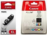 CANON Ink Cartridge Canon PGI Pack 550XL Black + CLI 551 4 colors (Cyan/Yellow/Black/Magenta)