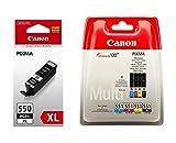 Canon PGI- 550XL / CLI -551 Original Tintenpatronen, 5-er Set von 2 x schwarz, 3 x farbtinten