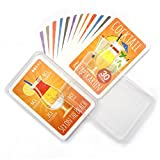 Chroma Products Cocktail Rezepte auf Karten: 30 Cocktailrezepte und Erklärungen im Set mit Plastikbox, Rezepte auf Deutsch, Kartenspiel Oder Quartett als Geschenk