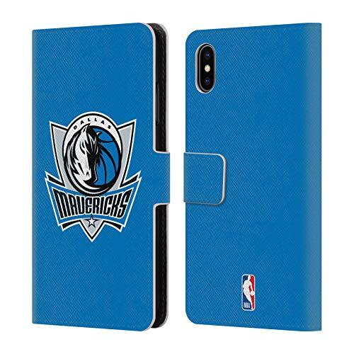 Head Case Designs Offizielle NBA Einfach Dallas Mavericks Leder Brieftaschen Huelle kompatibel mit iPhone XS Max - Maverick Leder