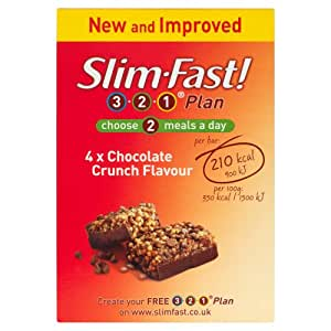 SlimFast Chocolate Crunch Meal Bar 60 g - Pack of 4