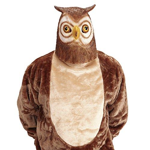 Tiermaske Vogel Eulen Maske Eulenmaske Uhu Vogelmaske Eule Kostüm Accessoire Erwachsene Kauz Faschingsmaske (Eule Kostüm Erwachsene)