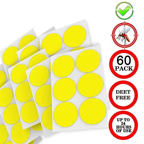 Kombination Haut Legen (Draulic 60Pcs Natural Mosquito Repellent Patches, wiederverschließbare ungiftige Killer 24-Stunden-Schutz-Patch für Hautkleidung)