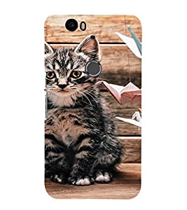EPICCASE sad cat Mobile Back Case Cover For Huawei Nexus 6P (Designer Case)