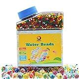 Wasserperlen 260g (40,000pcs) Riesige Wasser Gel Perlen Jelly Regenbogenfarbige Mischung für Kinder Sensorische Spielzeug, Hochzeit und Wohndekoration, Pflanzen Vase Füller verkauft durch Jangostor