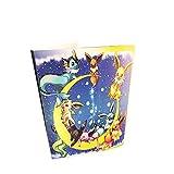 Pokemon-Auflistung Handbuch Handel Karte Album GX EX TCG Spielkarte Professionel Sammlung 324 Kartensteckplatz-(Pikachu Cover Blue Deluxe Edition)