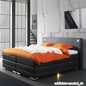 nixon inkl motor boxspringbett hotelbett amerikanisches bett designbett 180x200 blau amazon. Black Bedroom Furniture Sets. Home Design Ideas